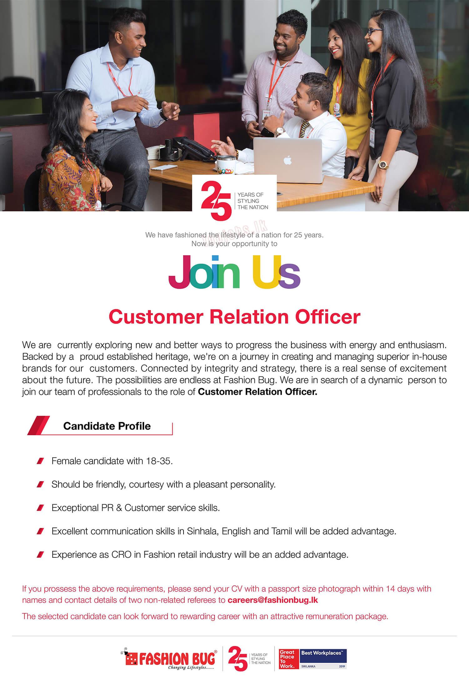 Customer Relation Officer