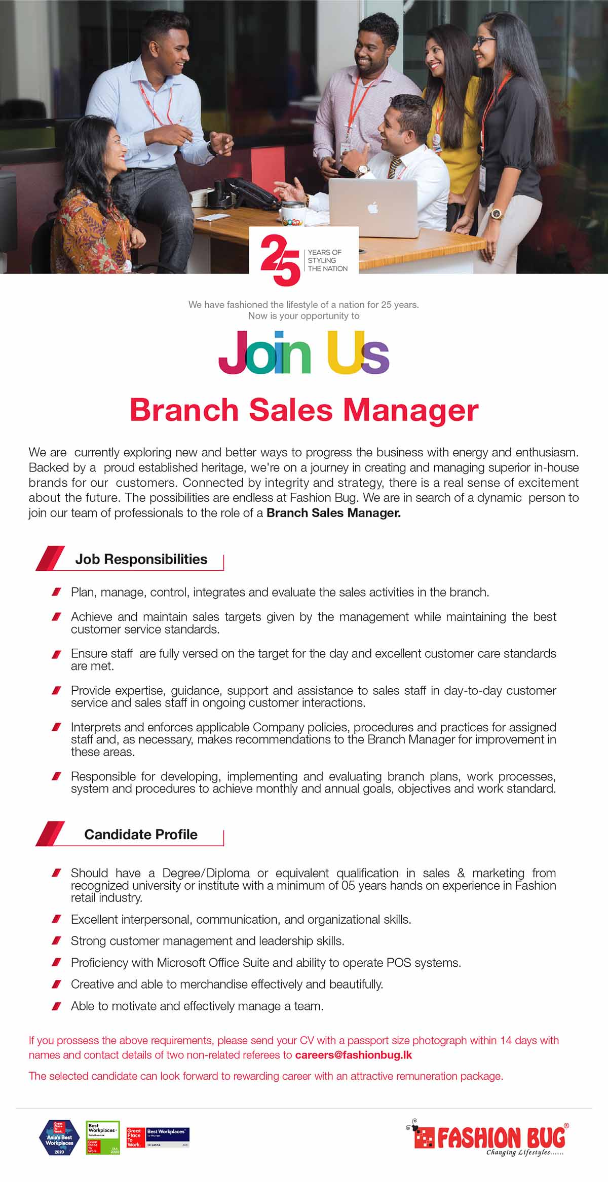 Branch Sales Manager